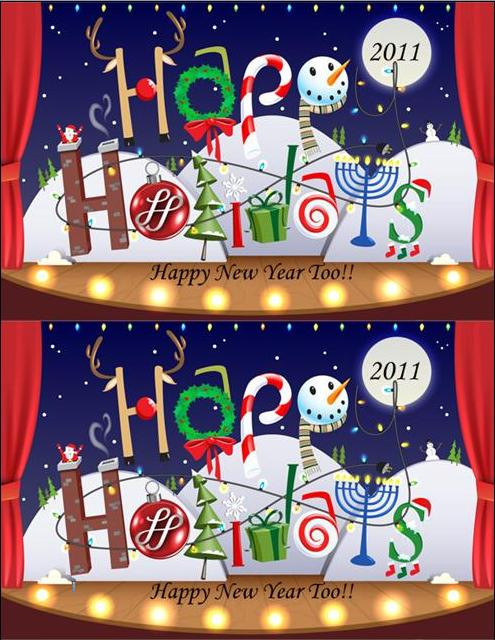 2 up holiday  cards